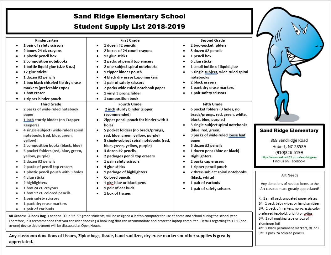 Sand Ridge Es Homepage