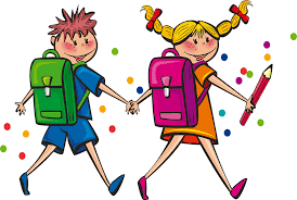 Students with Back Pack and Supplies