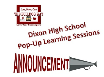 Pop up Learning Announcement