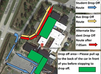 Morning Traffic Flow/Student Drop-Off Map
