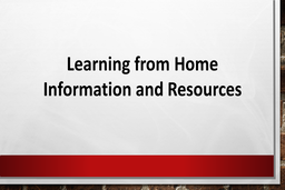 JCMS Remote Learning Information