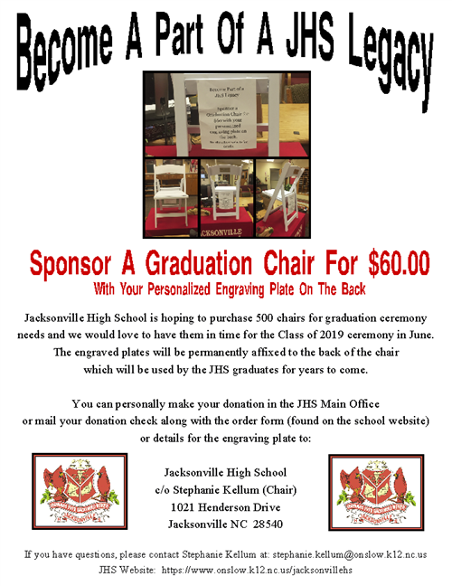 JHS Legacy Graduation Chair
