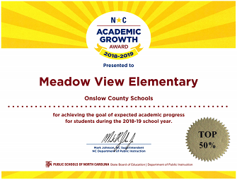 MVE academic growth top 50% in NC