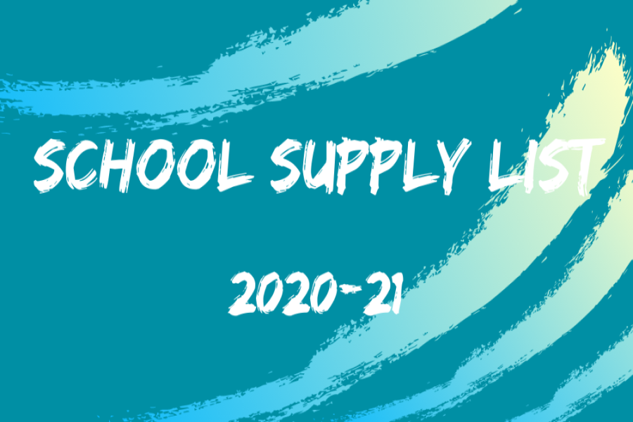 Click here for the School Supply List 2020-21