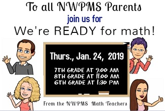 We're ready for math parent event January 24th
