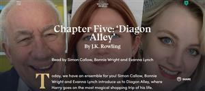 Simon Callow, Bonnie Wright and Evanna Lynch read chapter 5