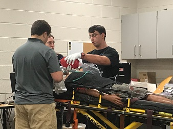 Southwest students working on medical skills