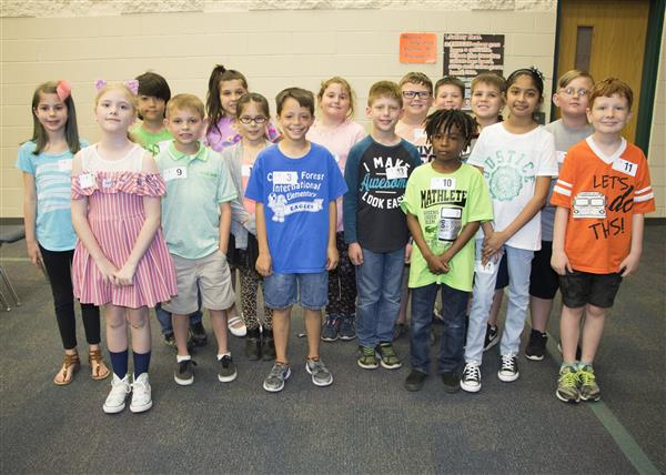 The sixteen multiplication bee contestants