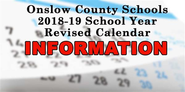 2018-19 Calendar Drafts and Information