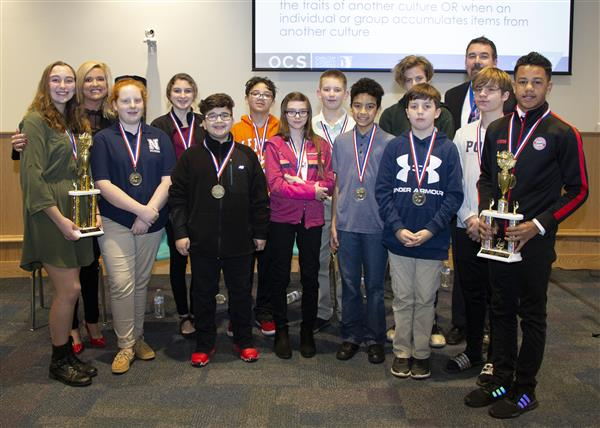 Twelves students competed in the 2020 middle school geography bee