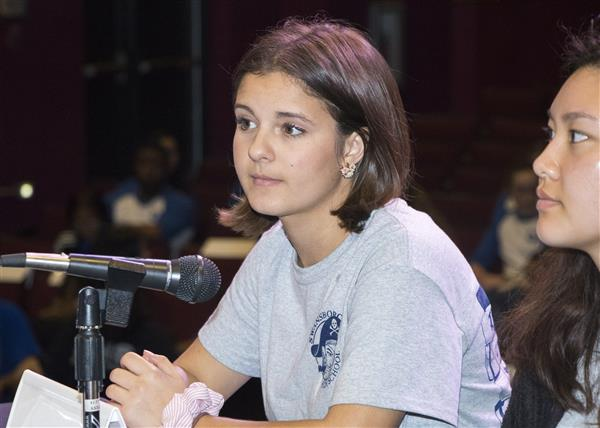 Students from Swansboro High School compete in Battle of the Books