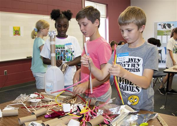 Campers invent something new out of recycled materials