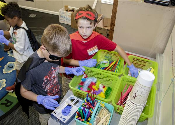 """Superhero"" campers work together to solve a problem"