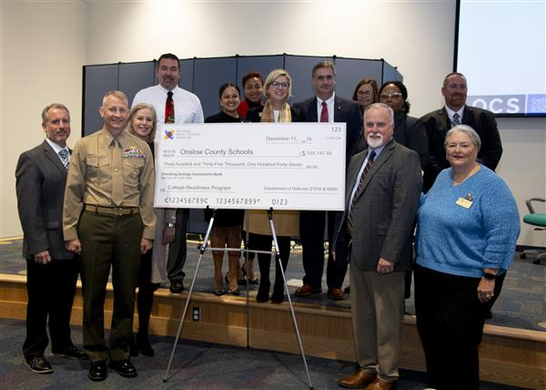 The NMSI grant was presented to OCS on Dec. 11