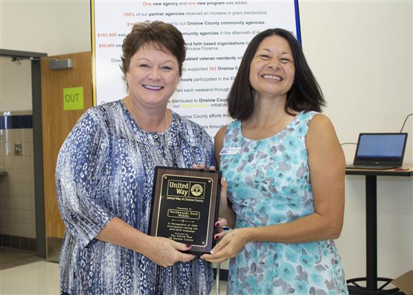 Northwoods Park Middle is recognized for 100 percent participation
