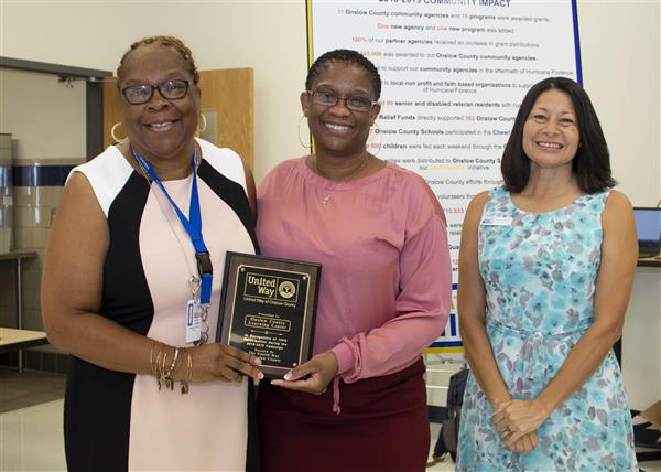 Onslow County Learning Center is recognized for 100 percent participation