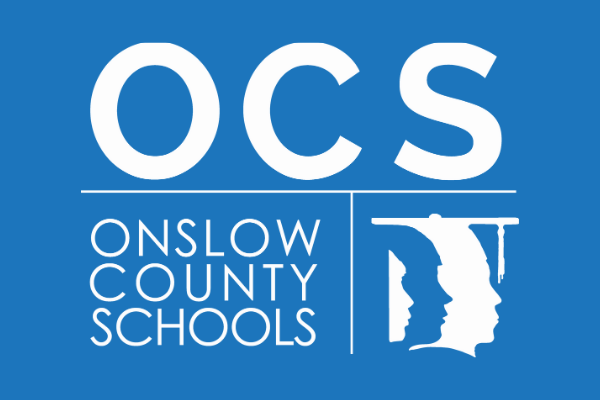 OCS Logo - White on Blue Background