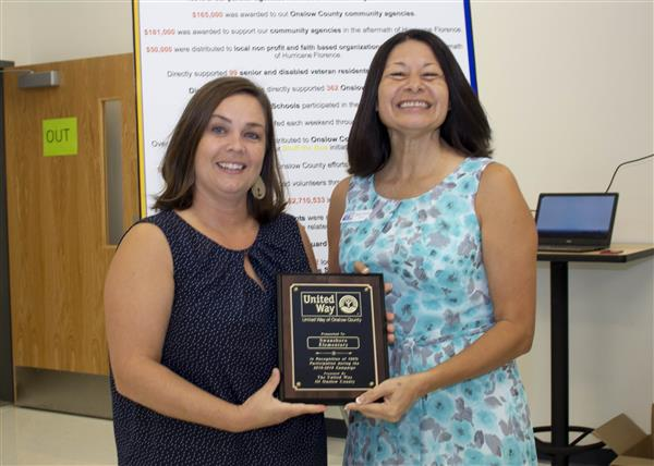Swansboro Elementary is recognized for 100 percent participation