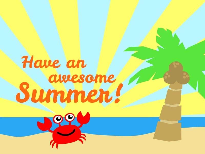 Have a wonderful summer!