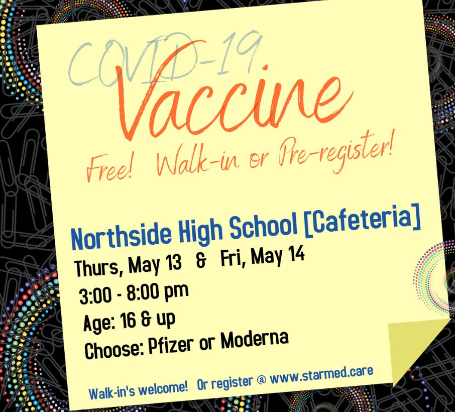COVID Vaccine Availability Ages 16 & Up