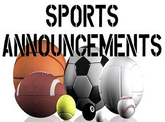 Sports announcements