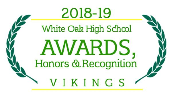 WOHS Awards and Recognition for 2018-19