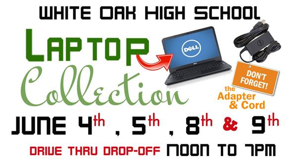 Laptop Collection June 4, 5, 8, & 9 (Noon to 7pm)