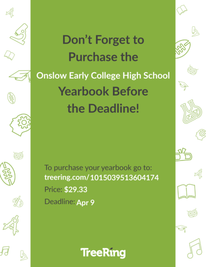 poster about ordering yearbook