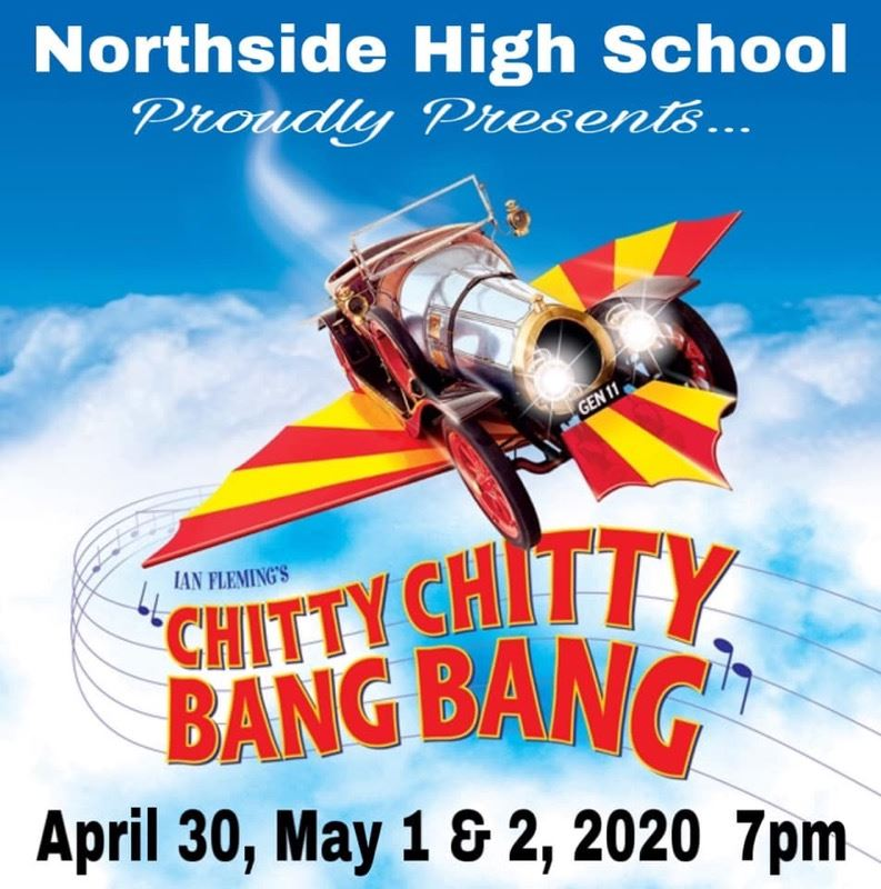 Musical Flyer for NHS Production of Chitty Chitty Bang Bang