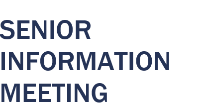 Senior Information Meeting