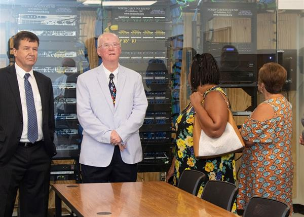 Community leaders tour the Skills Center
