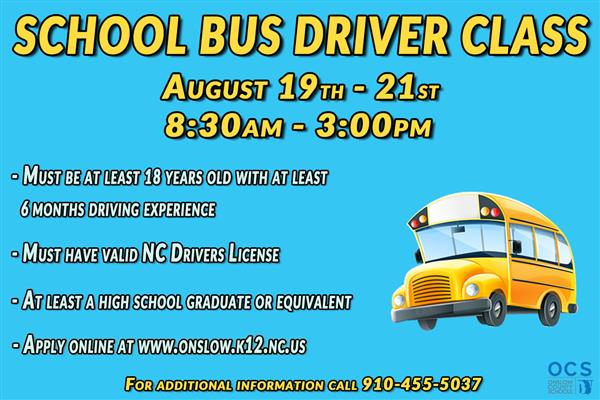 Bus driver class information
