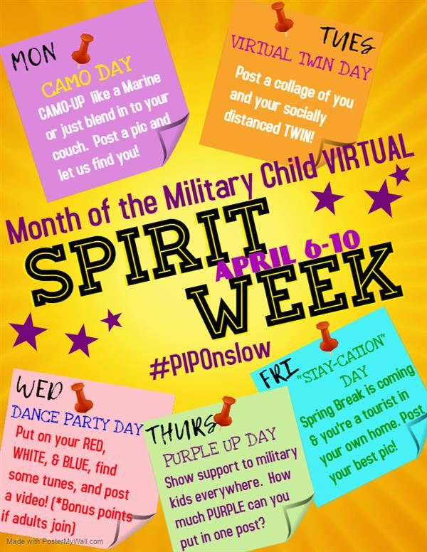 Virtual Spirit Week Information