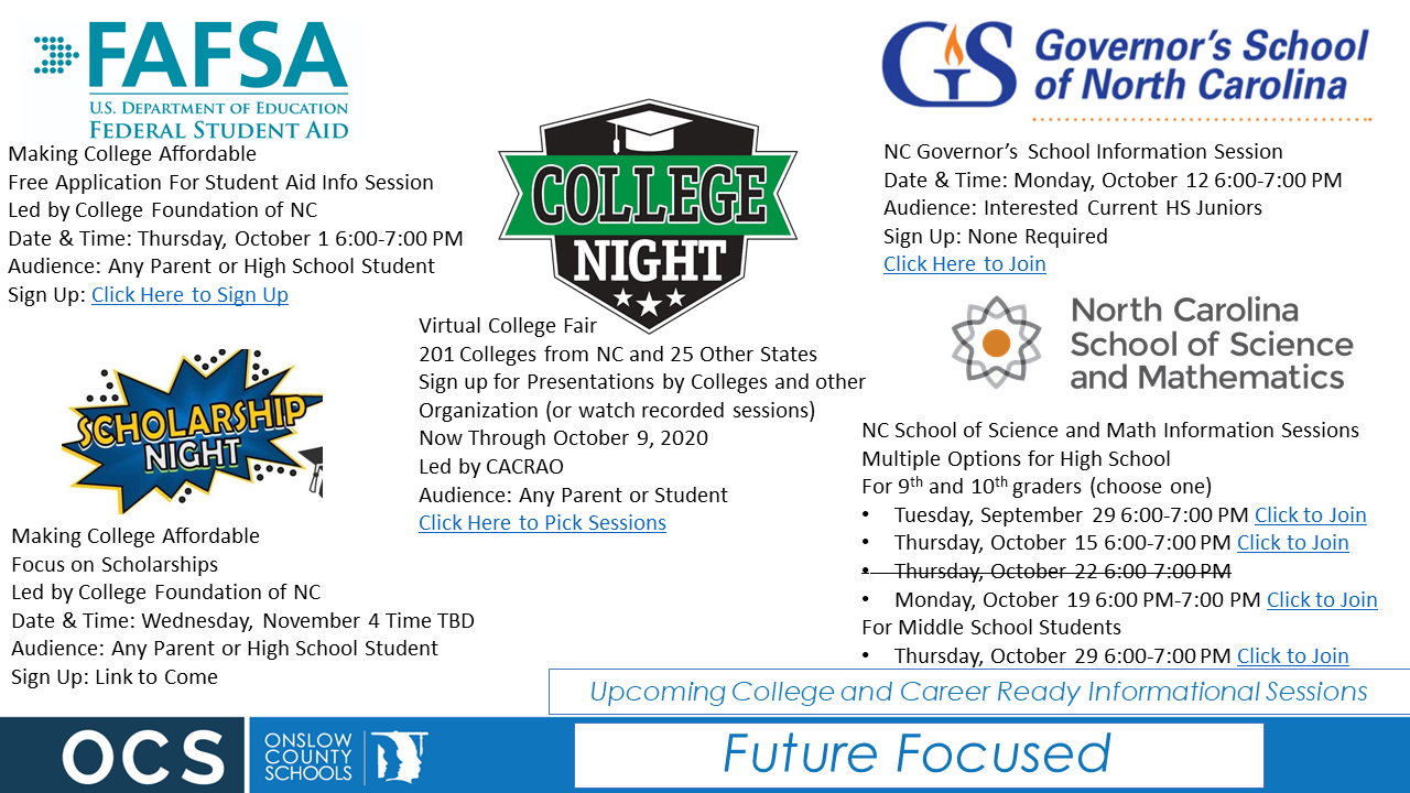 College Information Sessions