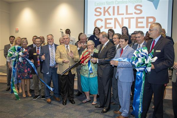 The ribbon is cut at the Easter North Carolina Regional Skills Center