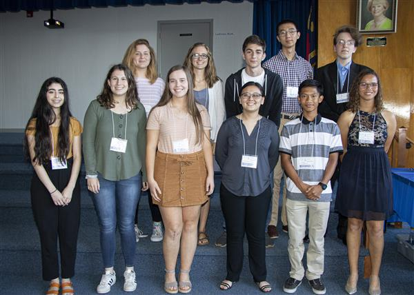 Students representing Onslow County at Governor's School this summer