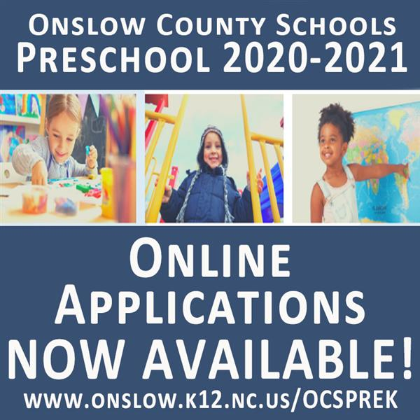 Preschool applications now available online