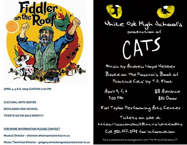 Fiddler on the Roof and Cats information
