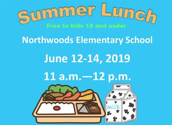 NWES summer lunch information