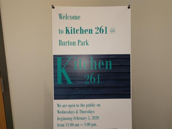Kitchen 261 @ Burton Park will be reopening in the fall with some new accents.  Check back in the summer months to see our progress.