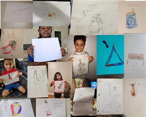Here are some creations from my kindergarten- 2nd graders during their online learning.