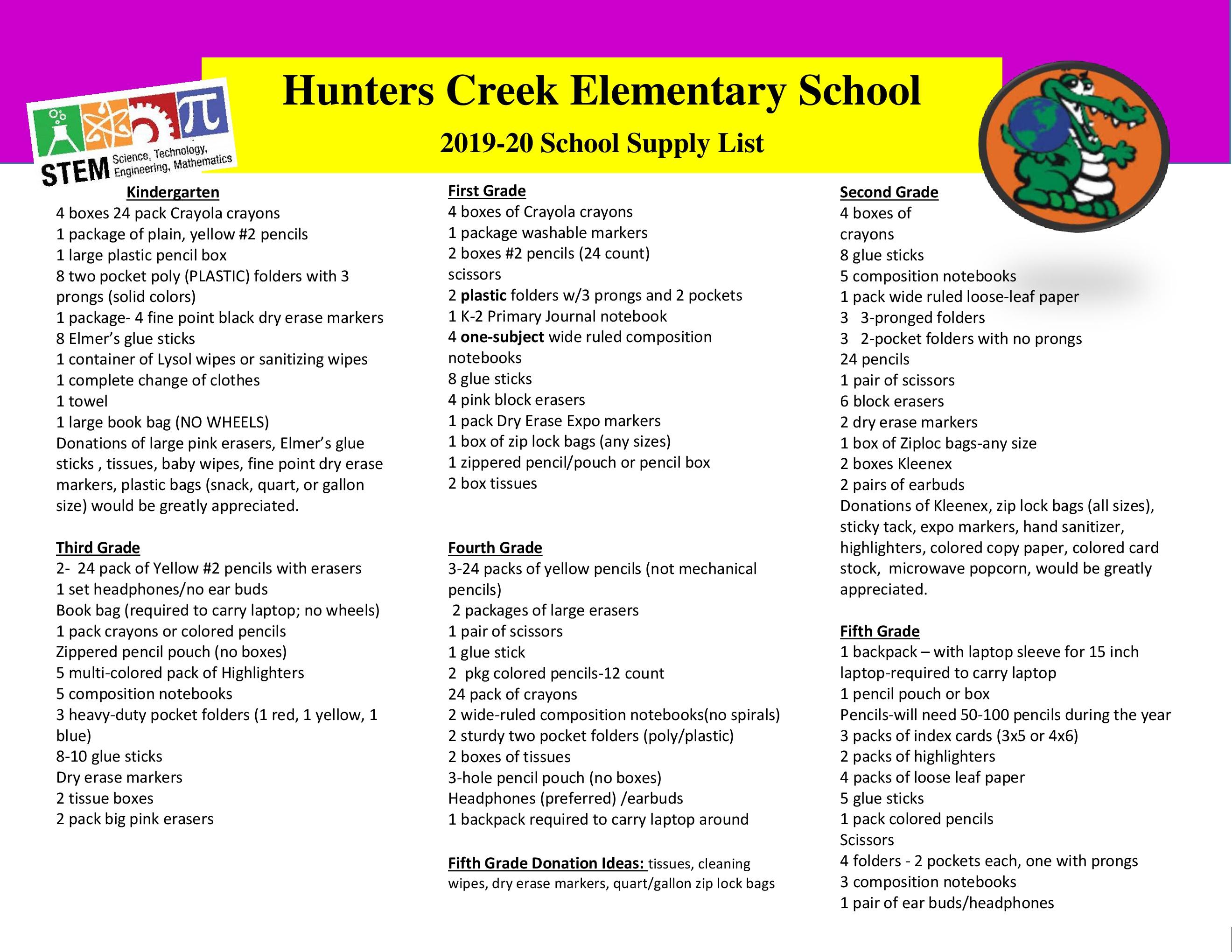 Hunters Creek ES / Homepage